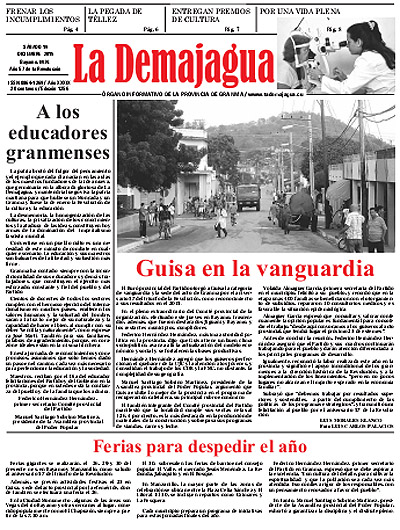 Edición impresa 1256 del semanario La Demajagua, 19 de diciembre de 2015