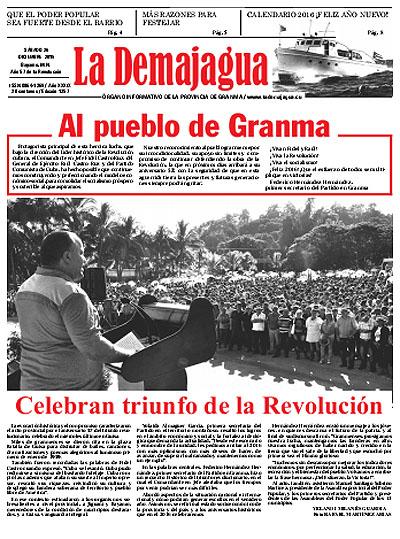 Edición impresa 1257 del semanario La Demajagua, 26 de diciembre de 2015