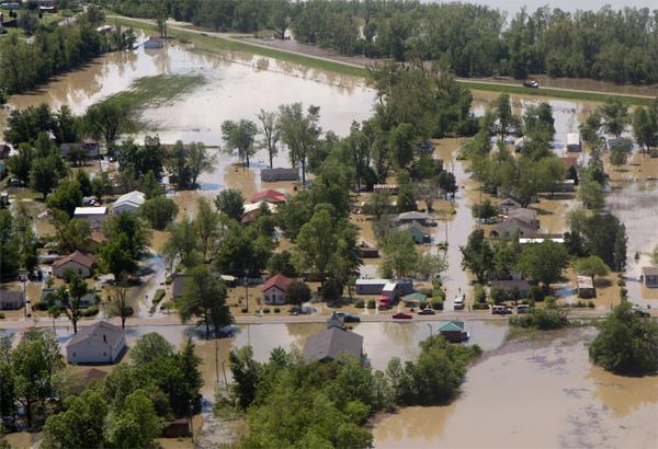 Poblado de Tiptonville, en Estados Unidos/ Foto AP