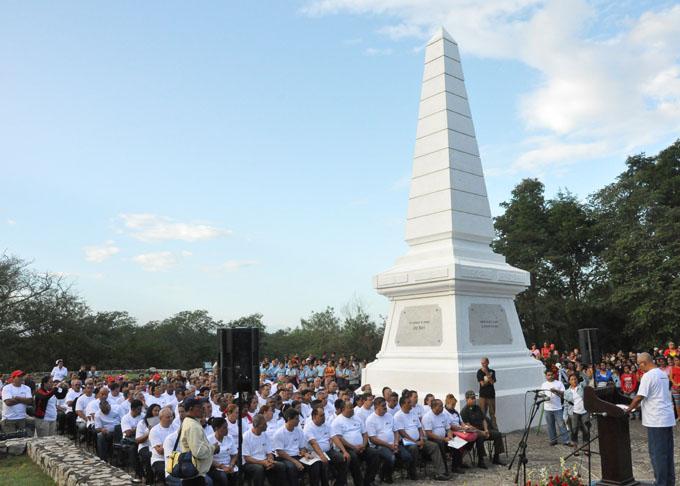 En Dos Ríos, lugar donde murió José Martí el 19 de mayo de 1895.