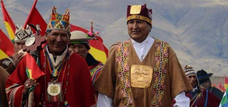Bolivianos celebran 10 años de Morales en el poder