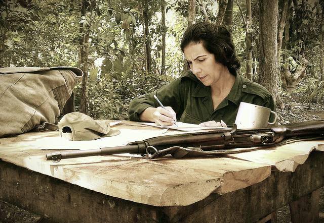 Lucy Milanés, en el personaje de Celia Sanchez Manduley