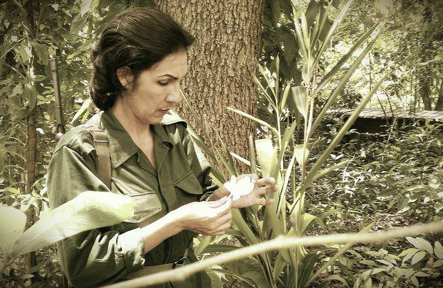 Lucy Milanés, en el personaje de Celia Sanchez