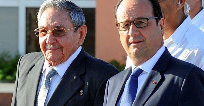 Recibirá François Hollande a Raúl este lunes