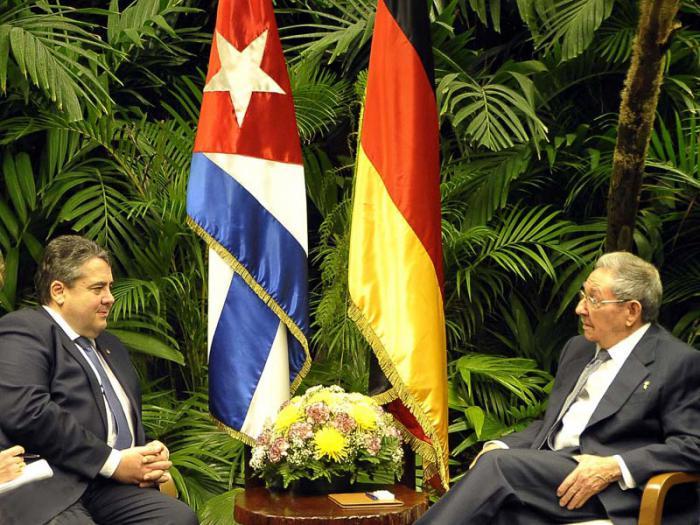 Recibió Raúl al Vicecanciller Federal de Alemania