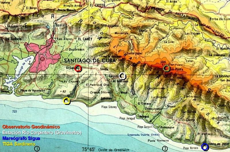 Santiago de Cuba, sismología
