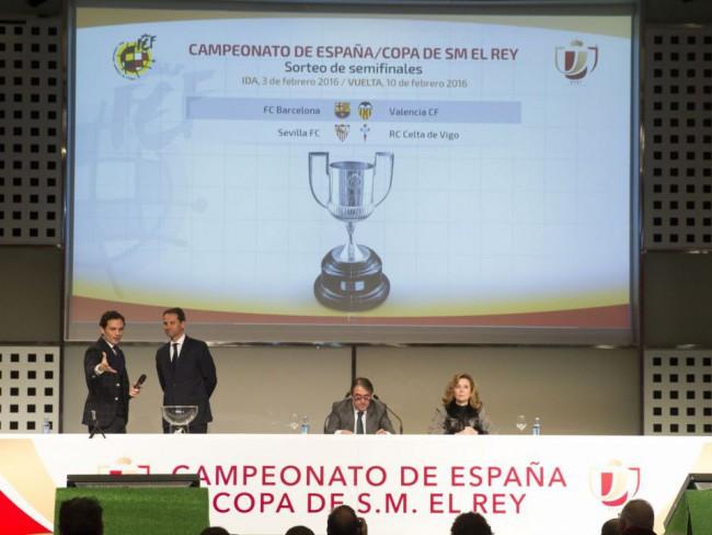 Imagen de los emparejamientos de semifinales de Copa del Rey.