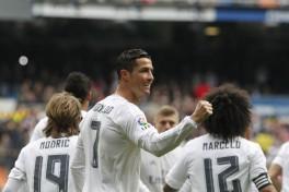 cristiano celebra un gol al sporting