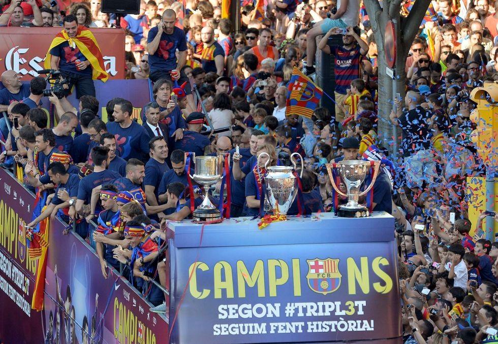 El Barcelona ganó cinco títulos en su año sin hacer fichajes