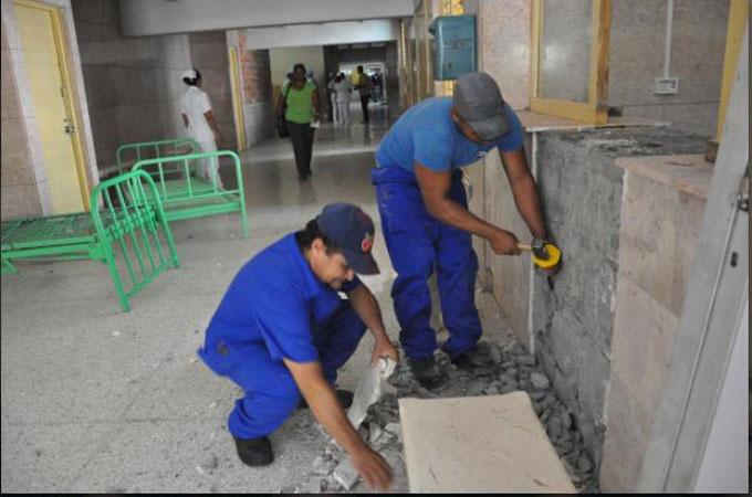 Continúa  proceso constructivo en hospital Carlos Manuel de Céspedes
