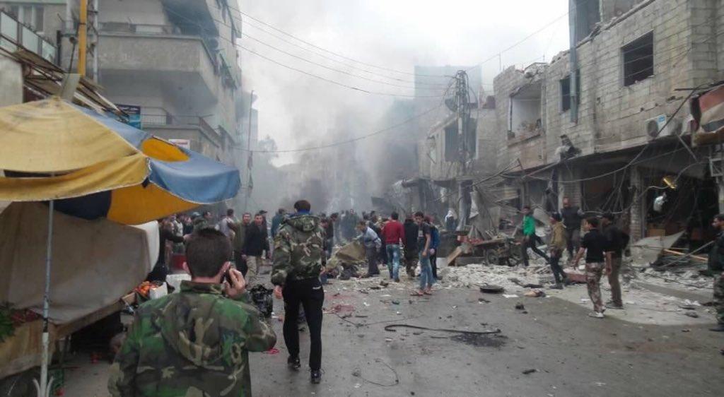 Más de 100 muertos por atentados en Damasco y Homs, en Siria