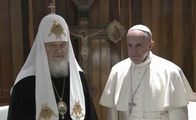 Conversan en La Habana el Papa Francisco y el Patriarca Kirill