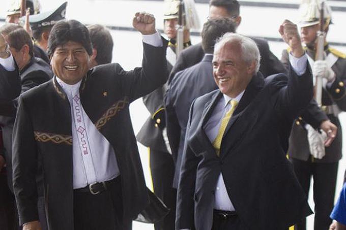 Secretario General de la Unasur visita  a Evo Morales