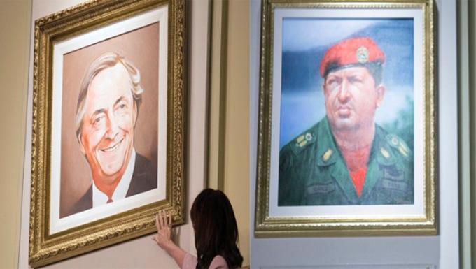 Macri ordena quitar cuadros de Kirchner y Chávez en Casa Rosada