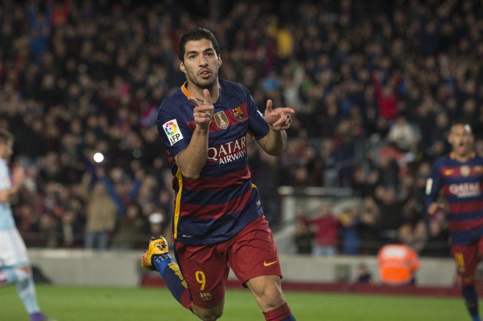 Suárez mejora el año del récord de Messi: 35 partidos, 39 goles