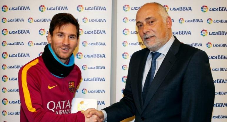Leo Messi, 'Premio BBVA' al Mejor Jugador de la Liga BBVA en enero