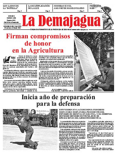 Edición impresa 1263 del semanario La Demajagua, sábado 6 de febrero de 2016