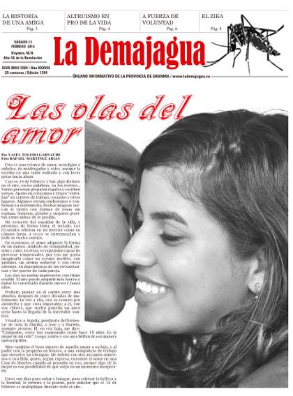 Edición impresa 1264 del semanario La Demajagua, sábado 13 de febrero de 2016
