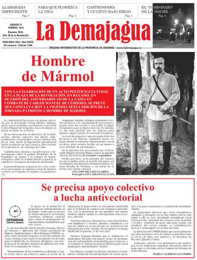 Edición impresa 1266 del semanario La Demajagua, sábado 27 de febrero de 2016