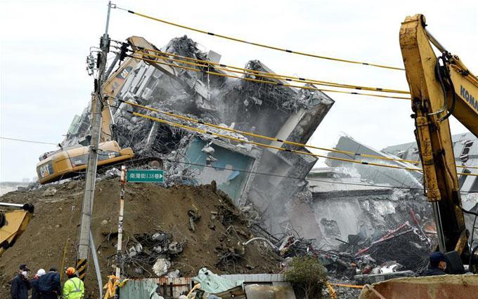 Concluyó operación de rescate por sismo de Taiwán con 116 muertos