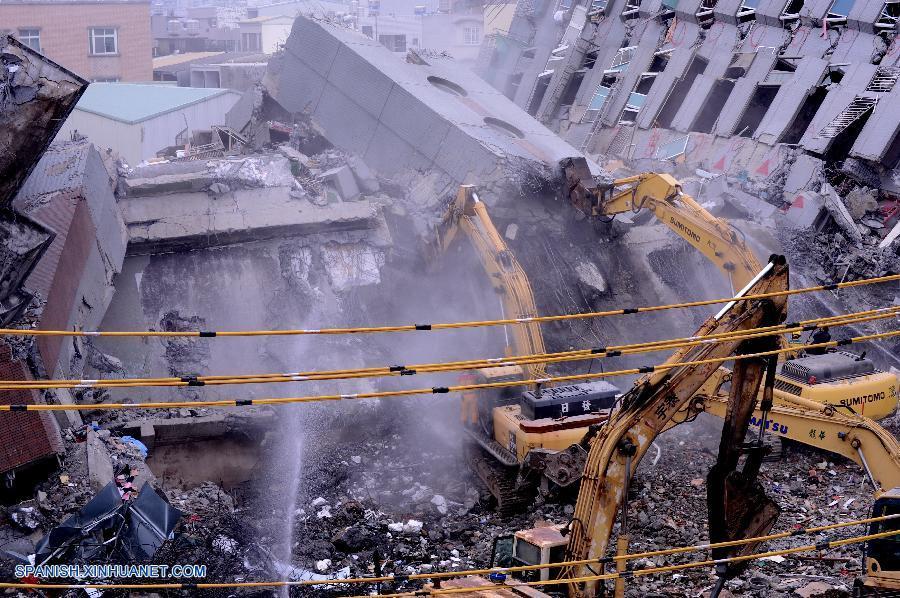 Cifra de muertos por terremoto de Taiwan sube a 46