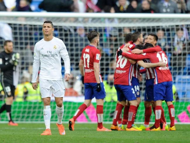 Cristiano, tras el gol de Griezmann. FOTO/ Denis Doyle