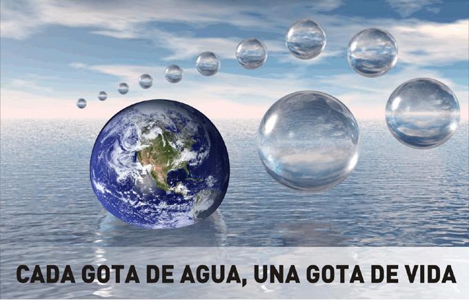 Cada gota de agua es decisiva