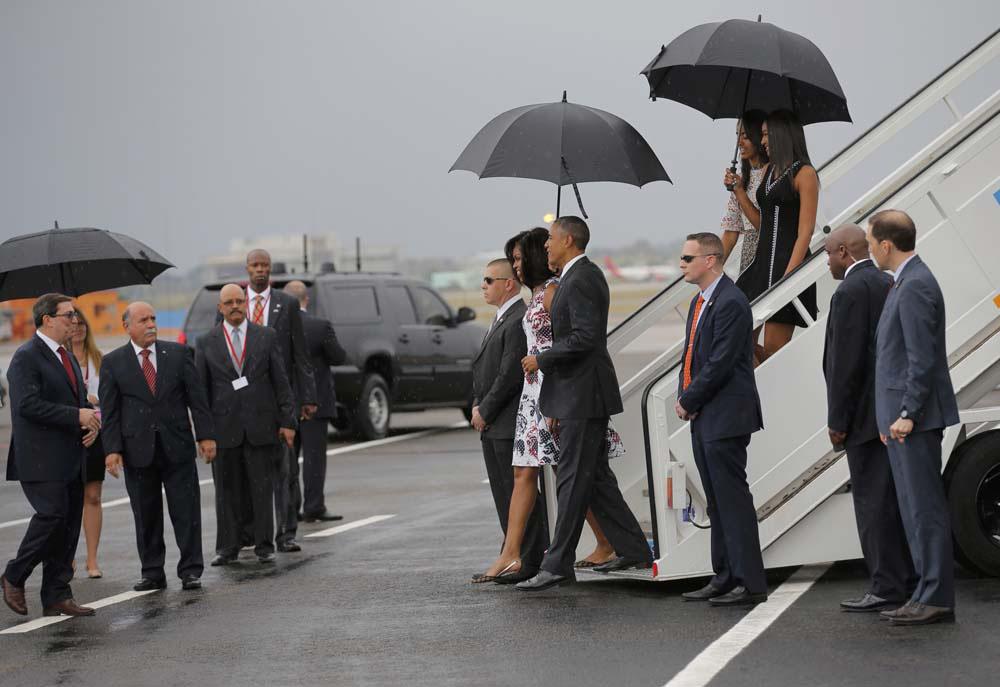 Llegada de Obama a Cuba (imágenes)