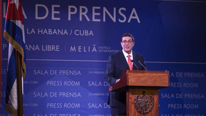 Conferencia de Prensa ofrecida por el canciller de Cuba Bruno Rodríguez (+ audio y video)