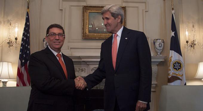 Recibe Canciller cubano a su homólogo de EE.UU.