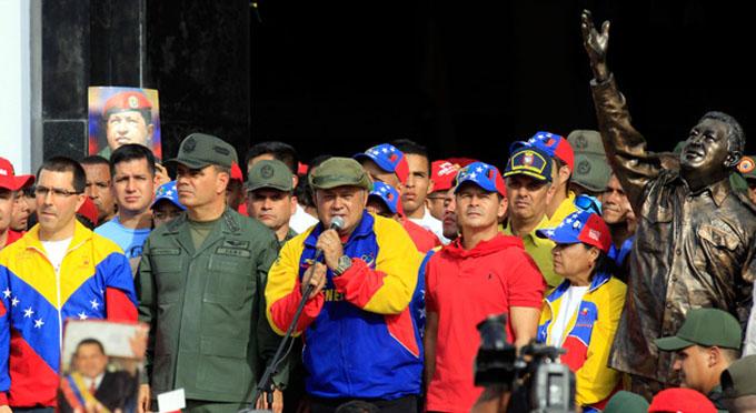 Diputado Cabello clausura marcha homenaje a Hugo Chávez