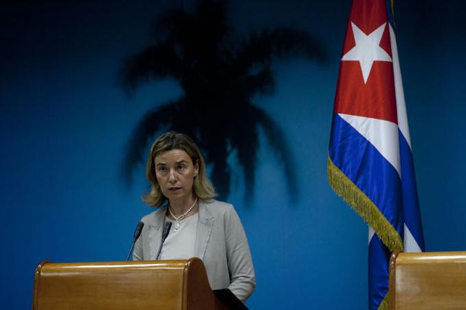 Exige alta representante de la EU fin del bloqueo a Cuba