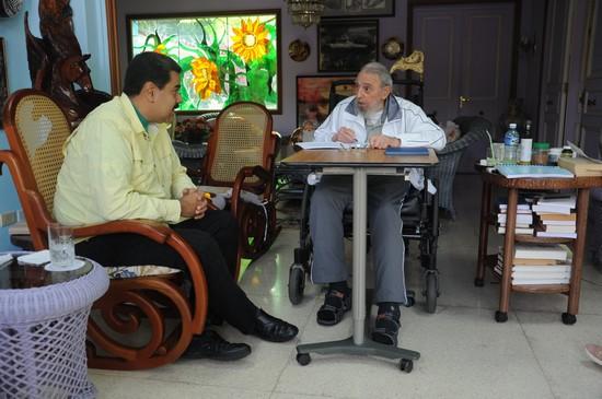 Recibió Fidel Castro a presidente Nicolás Maduro