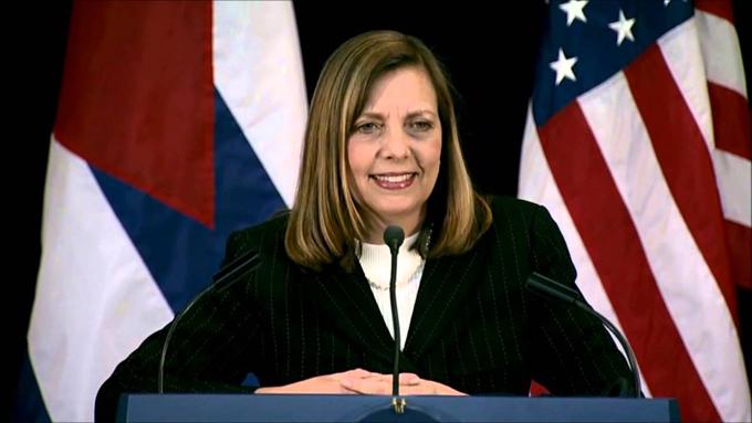 Josefina Vidal, directora general de Estados Unidos del Ministerio cubano de Relaciones Exteriores