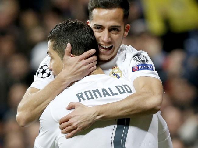 Lucas Vázquez celebra el gol de Cristiano. FOTO/ DANI SANCHEZ