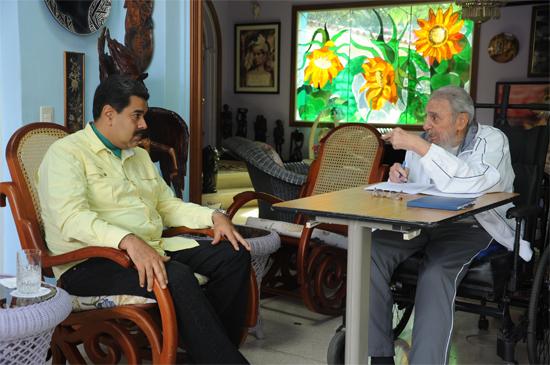 Vimos a Fidel con una fuerza tremenda, afirmó Nicolás Maduro