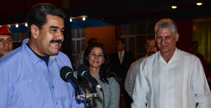 Recibió Díaz-Canel al presidente Nicolás Maduro
