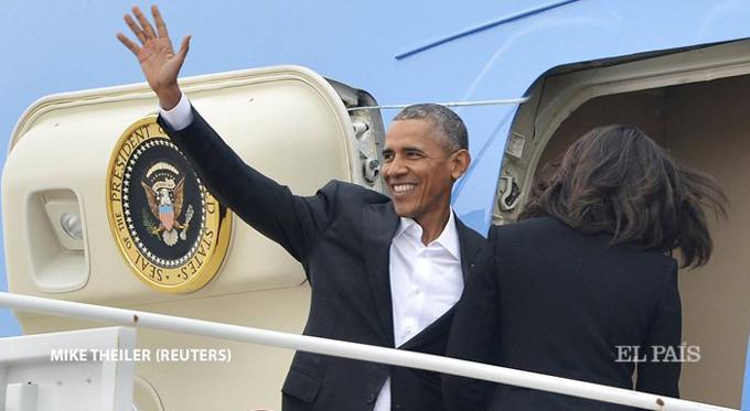 Presidente Obama partió de la base de Andrews, EE.UU., hacia Cuba