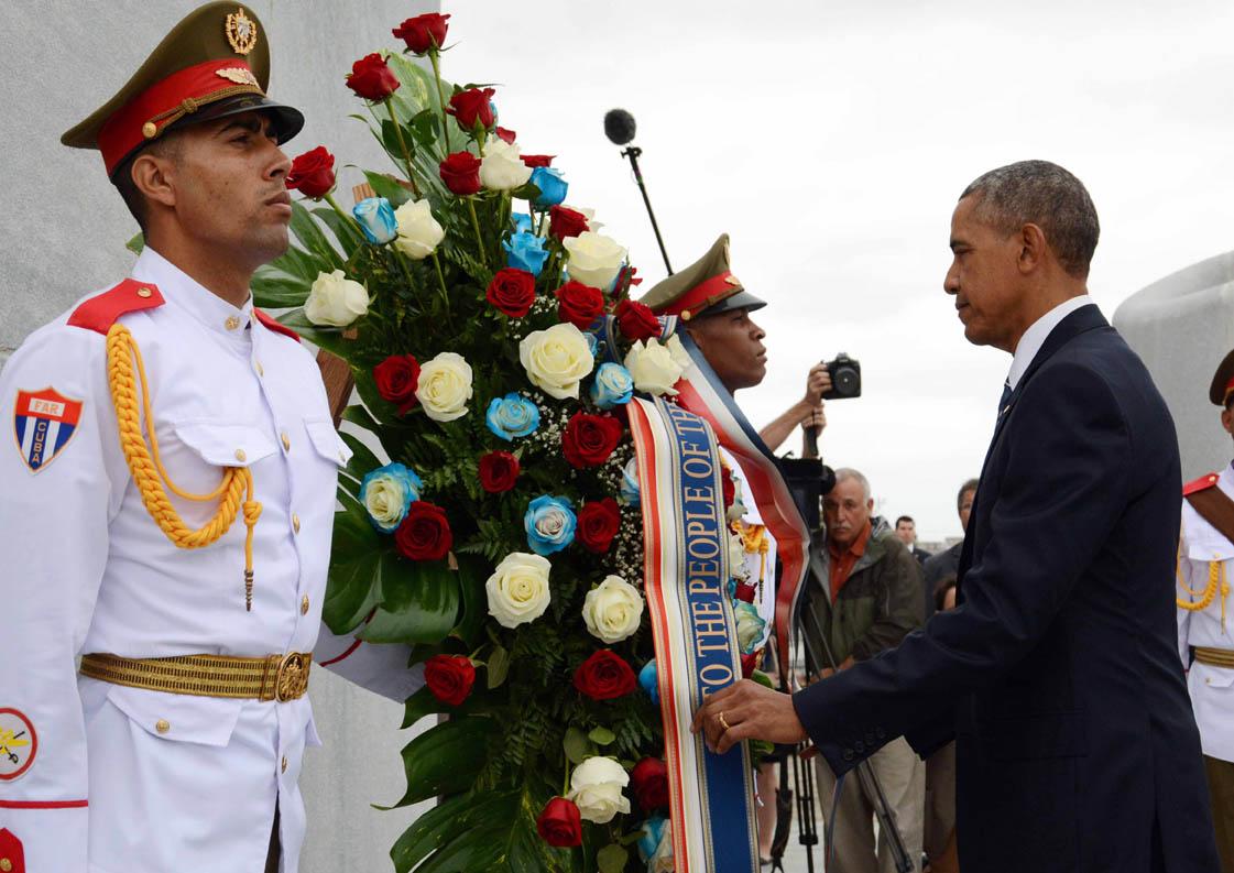 Presidente Barack Obama rinde honores a Héroe Nacional de Cuba