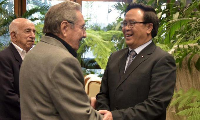 Recibió Raúl a dirigente comunista de Vietnam
