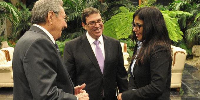 Recibió Raúl a Vicepresidenta y Canciller de Venezuela
