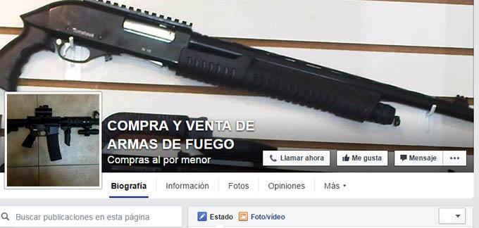 Venta de armas estadounidenses proliferan en redes sociales