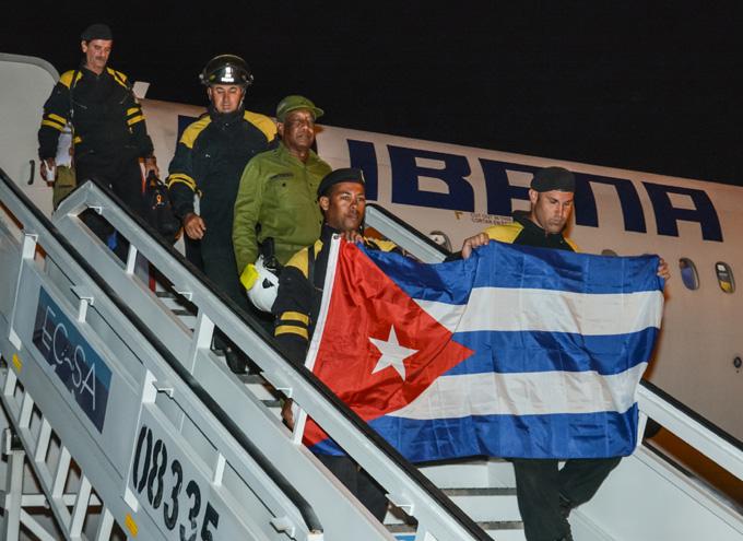 Regresó a Cuba equipo de rescate y salvamento de ayuda en Ecuador