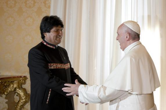Evo: el Papa está preocupado por problemas políticos en Latinoamérica