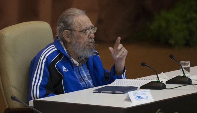 El pueblo cubano vencerá, aseguró Fidel en el 7mo. Congreso