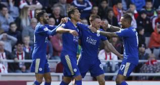 Vardy tumba al Sunderland y el Leicester ya acaricia el título