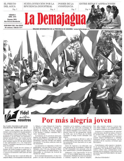 Edición impresa 1271 del semanario La Demajagua, sábado 2 de abril de 2016