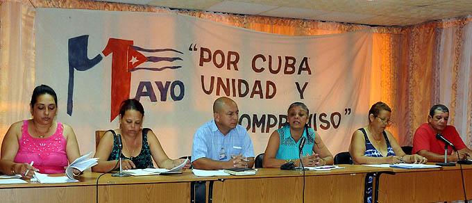 Realizan conferencia de prensa sobre la celebración del Primero de Mayo