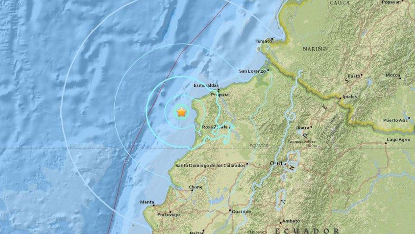 Nuevo sismo de magnitud 5,8 sacude costa de Ecuador
