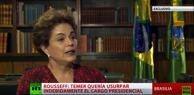 "Dilma Rousseff explica a RT ""el golpe sin armas"" que polariza Brasil  (Exclusiva)"